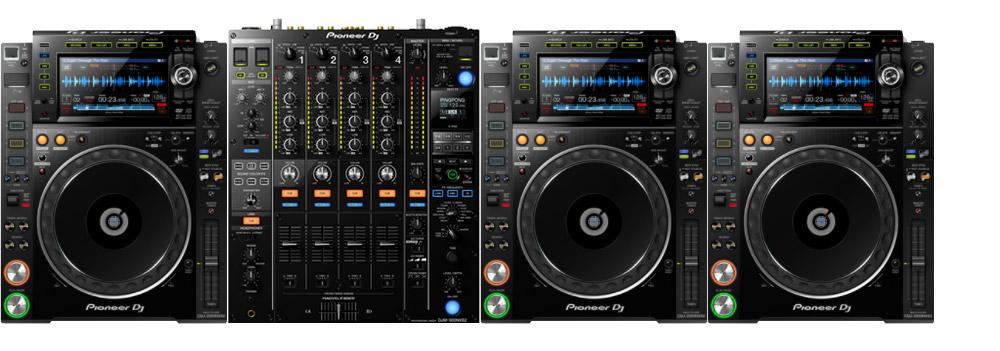 Pioneer DJ Set met 3x CDJ-2000 NXS2 en 1x Pioneer DJM-900 NXS2