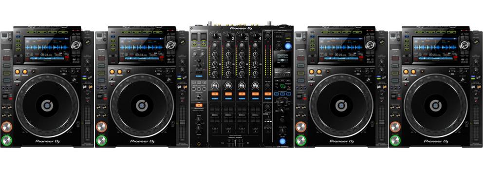 Pioneer DJ Set met 4x CDJ-2000 NXS2 en 1x Pioneer DJM-900 NXS2